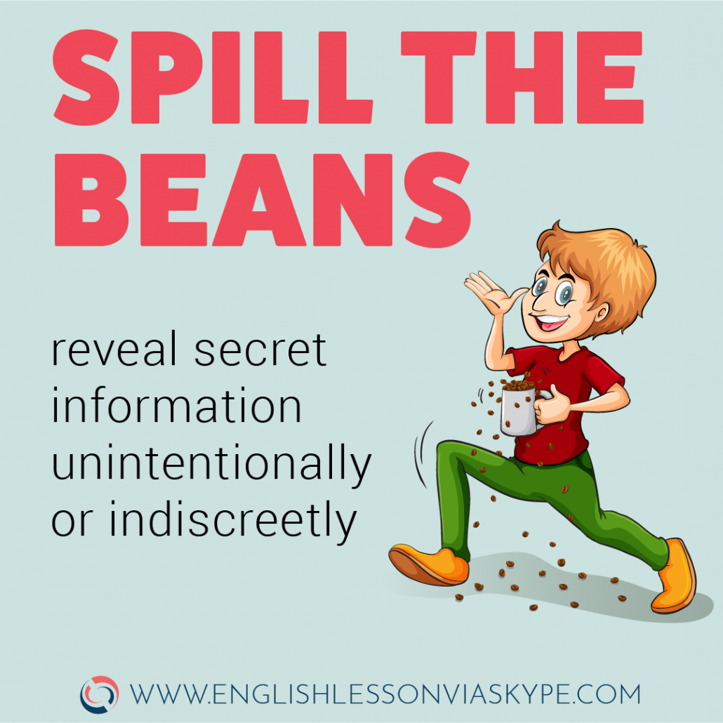 Spill the beans idiom meaning. English Idioms related to communication. Intermediate level English. English idioms in context. #learnenglish #englishlessons #aprenderingles #idioms #englishteacher #vocabulary #hoctienganh #ingles #อังกฤษ #английский #英语 #영어