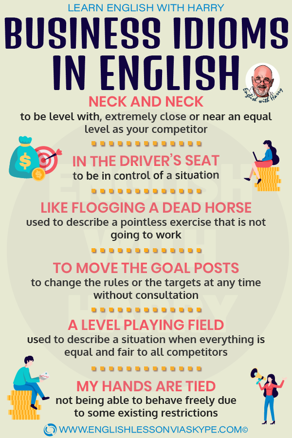 10 Business English Idioms. English Idioms related to business. Intermediate level English. #learnenglish #englishlessons #englishteacher #ingles #aprenderingles #idioms #vocabulary