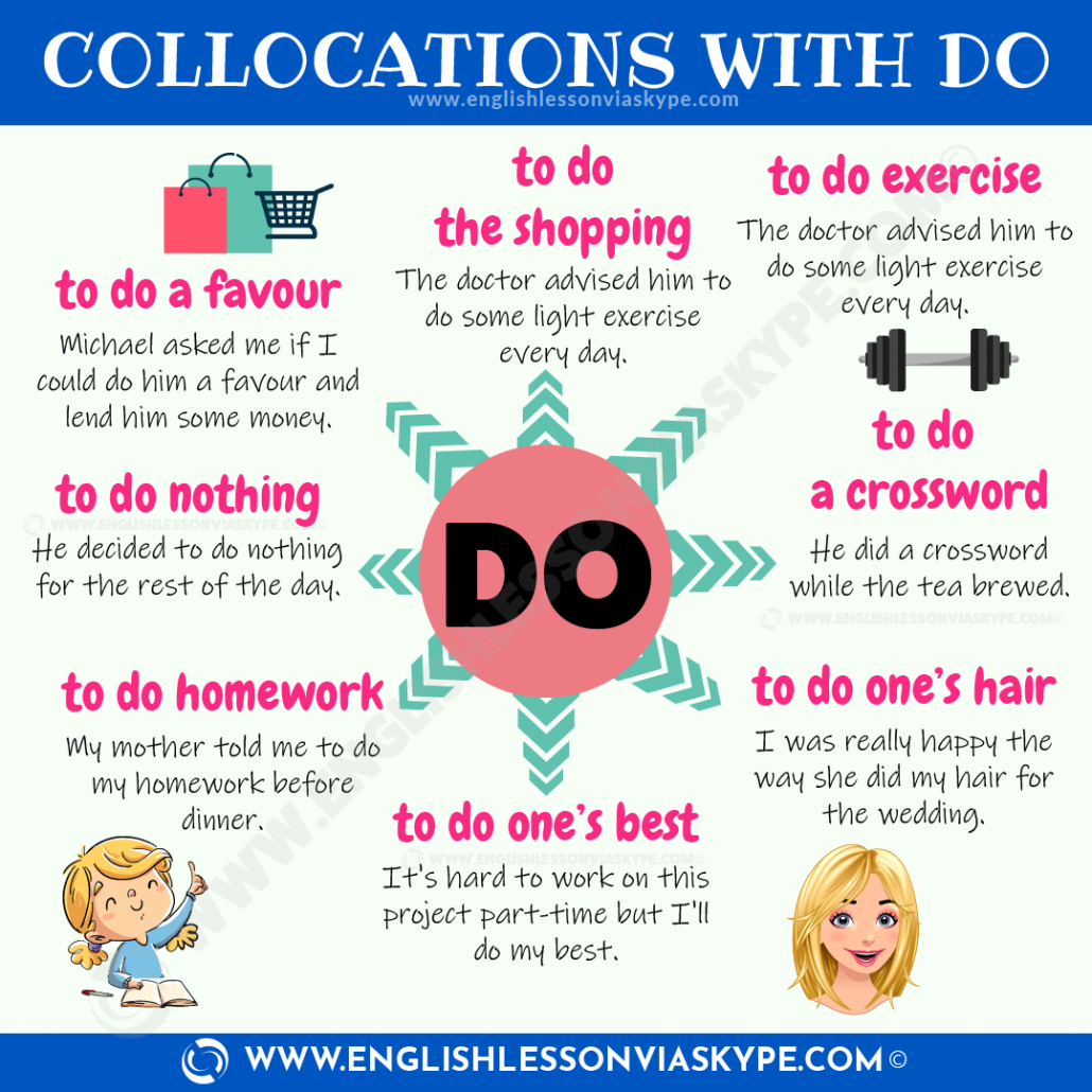 Collocations with DO. When to use make and do. Commonly confused verbs in English. #learnenglish #englishlessons #esl englishteacher #vocabulary #hoctienganh #ingles #อังกฤษ #английский #英语 #영어