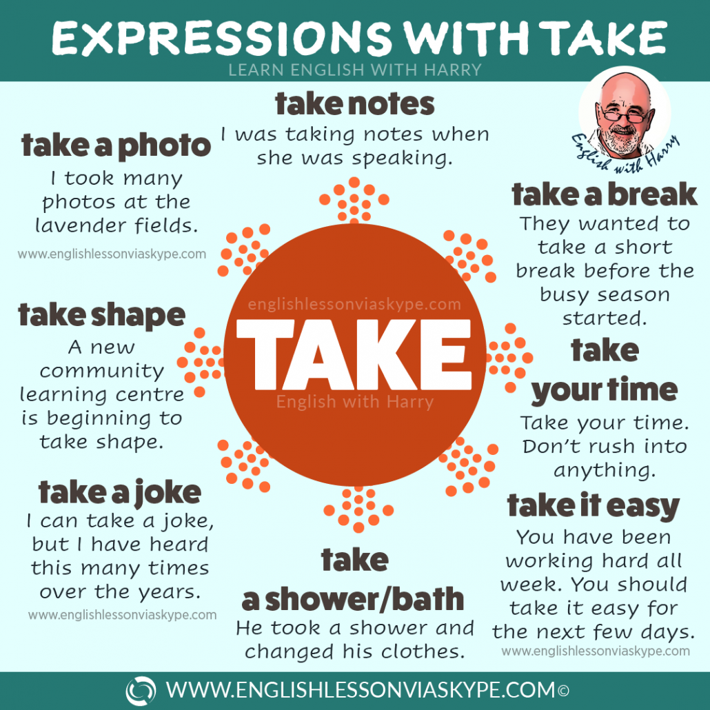 English Expressions and Idioms with TAKE. Effortless English learning. Intermediate level English. Advanced English. #learnenglish #englishidioms #aprenderingles #ingles #englishteacher