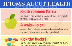 10 Idioms about Health and Illness