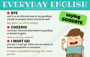 English Greetings and Goodbyes