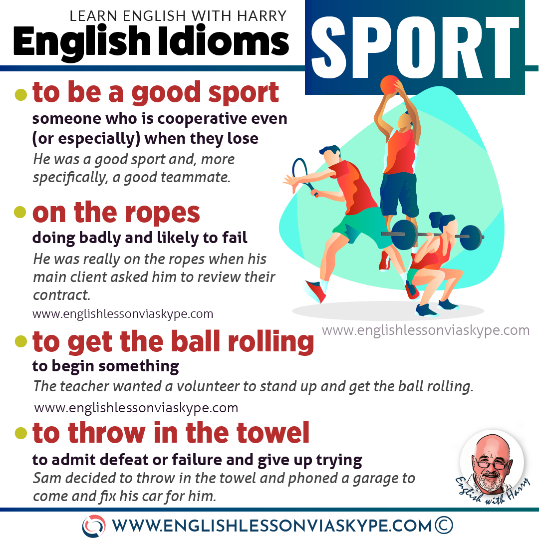 ENGLISH IDIOMS: 11 English Sports Idioms. English idioms related to sport. Intermediate level English vocabulary. #learnenglish #englishlessons #englishteacher #ingles #aprenderingles