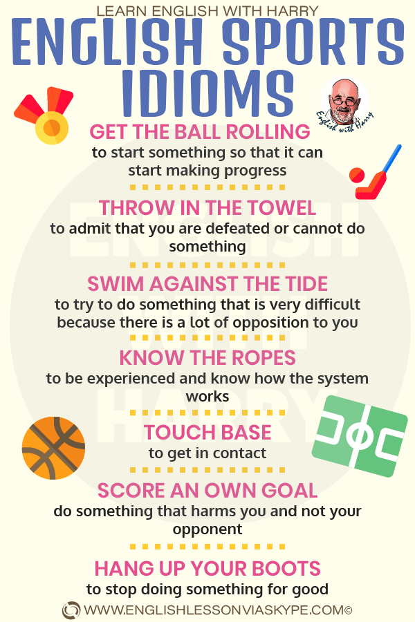 11 English Sports Idioms. English idioms related to sport. Intermediate level English vocabulary. #learnenglish #englishlessons #englishteacher #ingles #aprenderingles