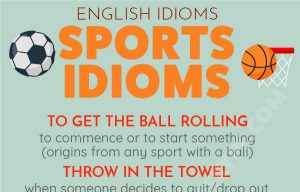 English Sports Idioms – Get the Ball Rolling