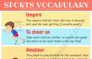 IELTS Sports Vocabulary Words