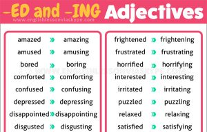 English Grammar Rules - difference between adjectives ending in ED and ING. #learnenglish #englishlessons #ingles #อังกฤษ #английский #英语 #영어