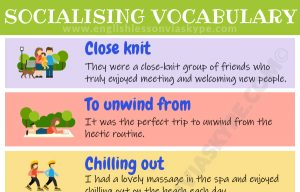 English Vocabulary for Socialising with Friends