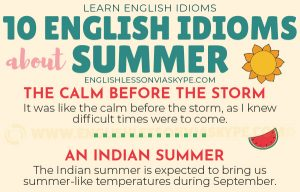 Summer Vocabulary – English Collocations and Idioms