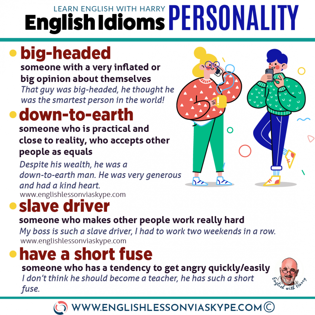 38 English Idioms describing character and personality. Improve English from intermediate to advanced level with www.englishlessonviaskype.com #learnenglish #englishlessons #EnglishTeacher #vocabulary #ingles #английский #aprenderingles #english #cursodeingles #учианглийский #vocabulário #dicasdeingles #learningenglish #ingilizce #englishgrammar #englishvocabulary #ielts #idiomas