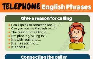 List of Telephone Phrasal Verbs