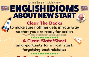 Useful English Words and Phrases to describe a New Start