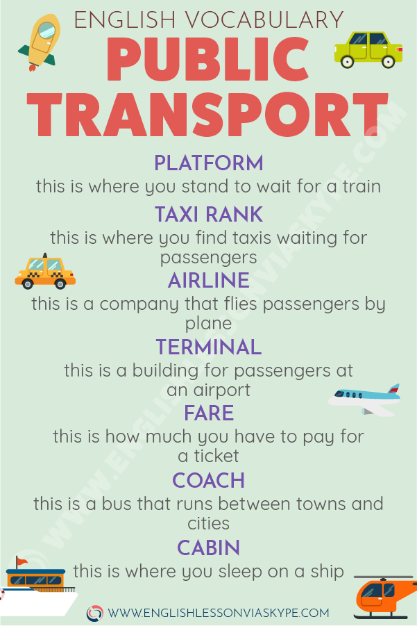 How to talk about transport in English. Types of public transport in English. Effortless English learning. #learnenglish #englishlessons #englishteacher #ingles #aprenderingles #vocabulary