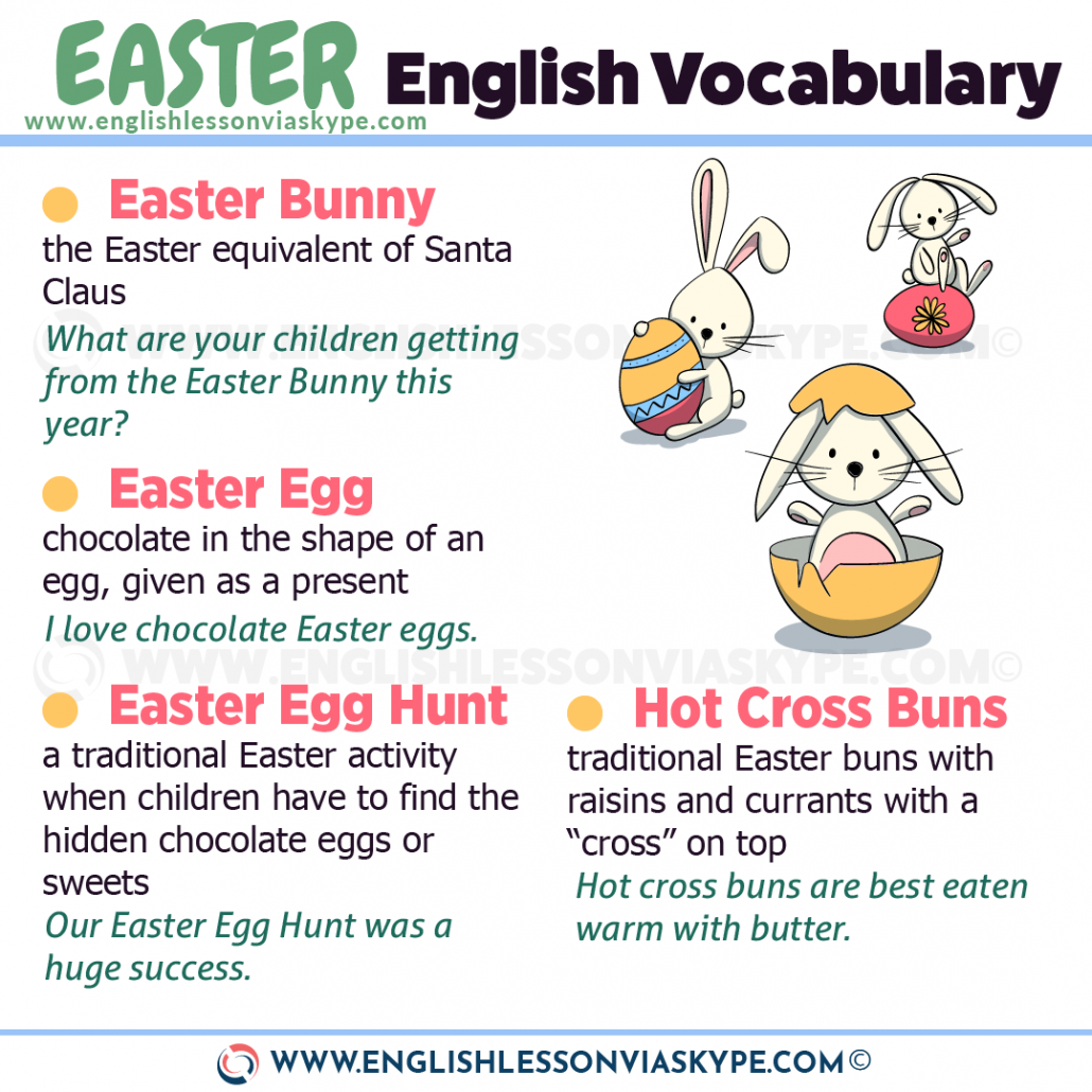 English Easter vocabulary words and phrases. Improve English speaking skills at www.englishlessonviaskype.com #learnenglish #englishlessons #EnglishTeacher #vocabulary #ingles #อังกฤษ #английский #aprenderingles #english #cursodeingles #учианглийский #vocabulário #dicasdeingles #learningenglish #ingilizce #englishgrammar #englishvocabulary #ielts #idiomas