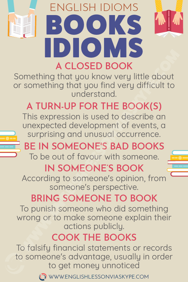 English Idioms about BOOKS. Intermediate level English. Easy English idioms learning. #learnenglish #englishlessons #englishteacher #ingles #aprenderingles #idioms #vocabulary