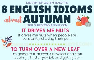 English Phrases and Idioms connected with Autumn