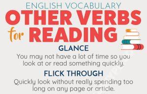 5 English Verbs To Describe Reading