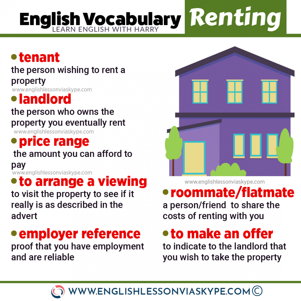 English Vocabulary for renting an apartment. How to rent apartment in English. Intermediate level English lessons www.englishlessonviaskype.com #learnenglish #englishlessons #tienganh #EnglishTeacher #vocabulary #ingles #อังกฤษ #английский #aprenderingles #english #cursodeingles #учианглийский #vocabulário #dicasdeingles #learningenglish #ingilizce #englishgrammar #englishvocabulary #ielts #idiomas