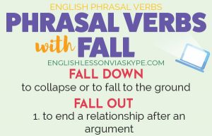 14 Phrasal Verbs with FALL with meanings