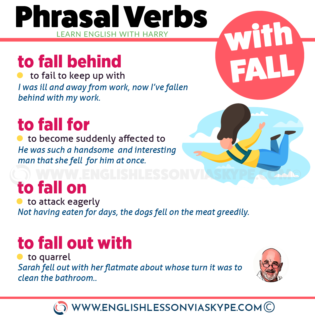 14 Phrasal Verbs with Fall with meanings and examples. Improve English with Harry at www.englishlessonviaskype.com #learnenglish #englishlessons #tienganh #EnglishTeacher #vocabulary #ingles #อังกฤษ #английский #aprenderingles #english #cursodeingles #учианглийский #vocabulário #dicasdeingles #learningenglish #ingilizce #englishgrammar #englishvocabulary #ielts #idiomas