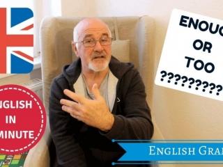 Estudiar ingles - English Grammar: Enough or too?