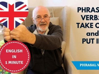 Learning English phrasal verbs - take out and put in