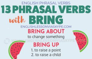 English Phrasal Verbs with Bring with meanings and examples. Intermediate level English. #learnenglish #englishlessons #englishteacher #ingles