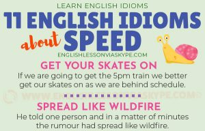 English Idioms for Progress and Speed