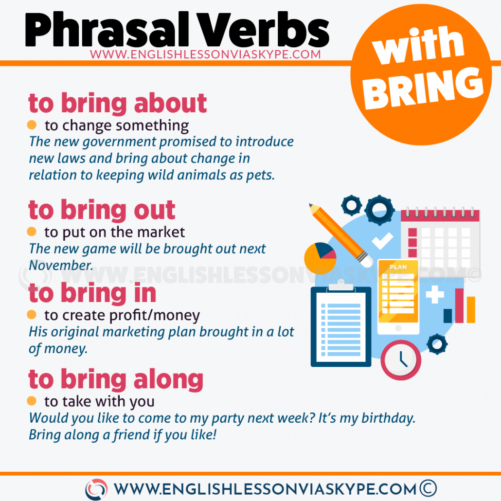 13 Phrasal Verbs with Bring. Bring on, bring in, bring off meaning. www.englishlessonviaskype.com #learnenglish #englishlessons #английский #angielski #nauka #ingles #Idiomas #idioms #English #englishteacher #ielts #toefl #vocabulary #ingilizce #inglese #ielts