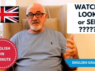 Speak English fluently - what is the difference between Watch, Look and See