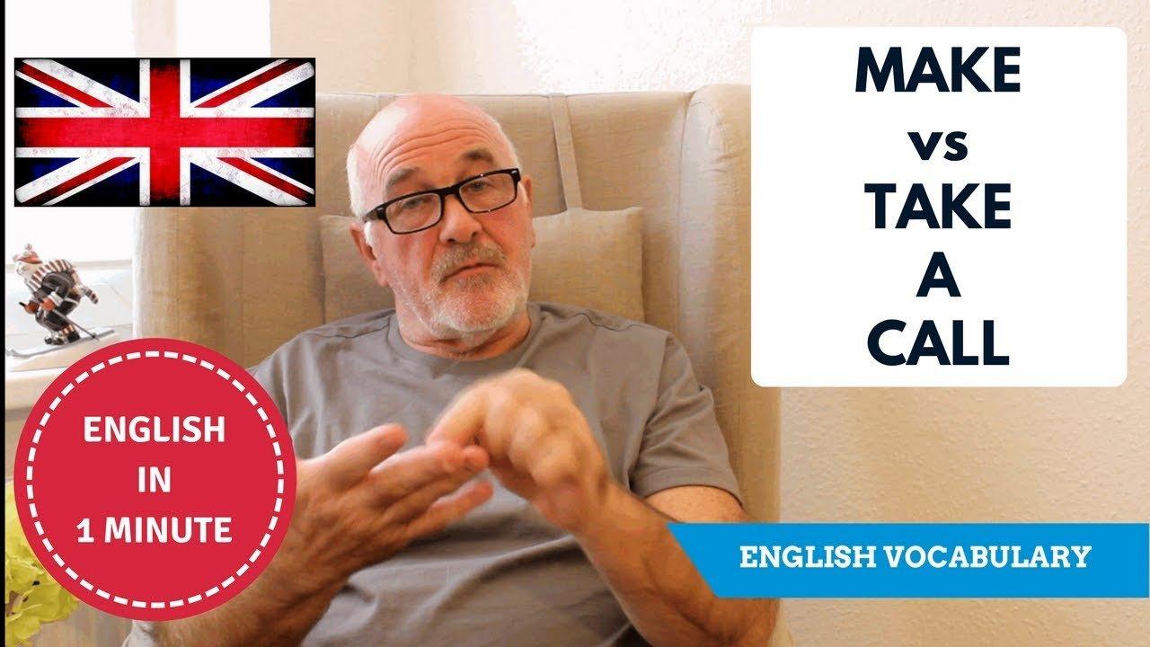 Learn telephone English - Make a Call or Take a Call?
