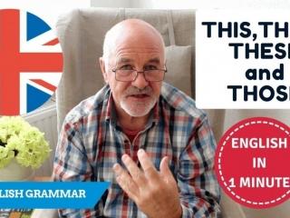 Learn English demonstrative pronouns