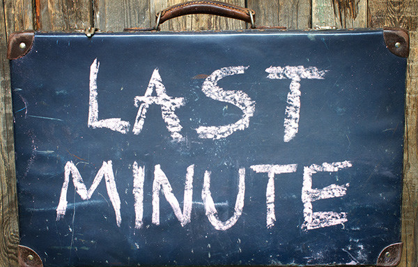 English expressions related to last minute