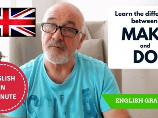 Speak English fluently - difference between Make and Do