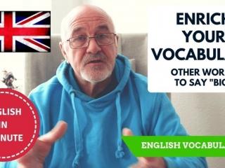 Speak English fluently - learn synonymous English words for BIG