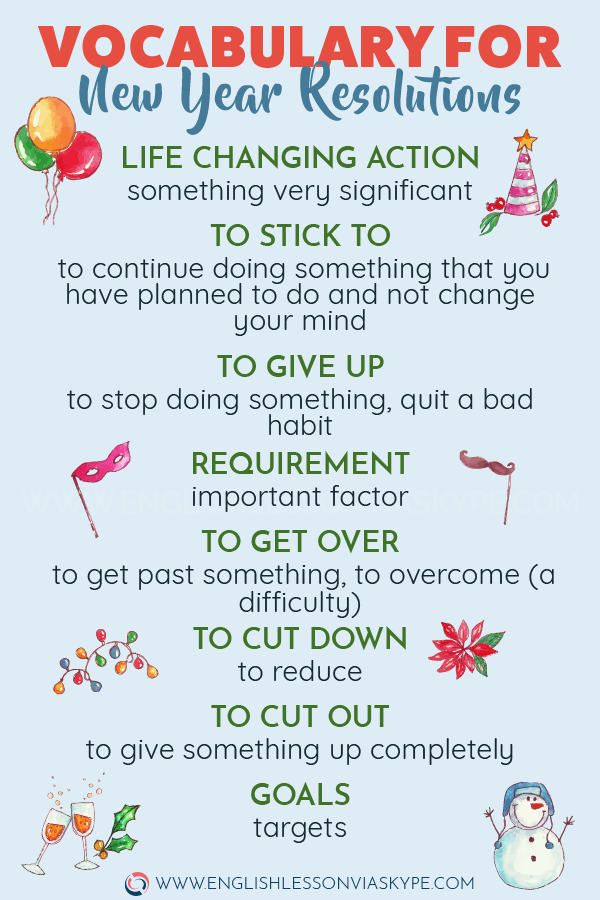 🔴 English Expressions related to New Year resolutions #learnenglish #englishlessons #ingles #englishlanguage #newyear #aprenderingles