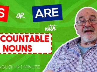 Is or are with uncountable nouns