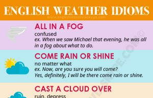 10 More Idioms related to Weather