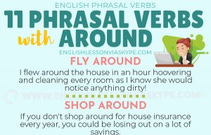 Commonly Used Phrasal Verbs with AROUND