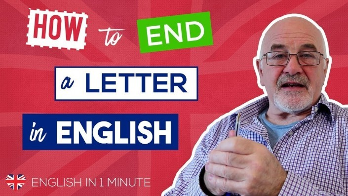 How to end a letter in English