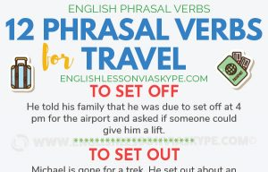 12 Travel Phrasal Verbs in English
