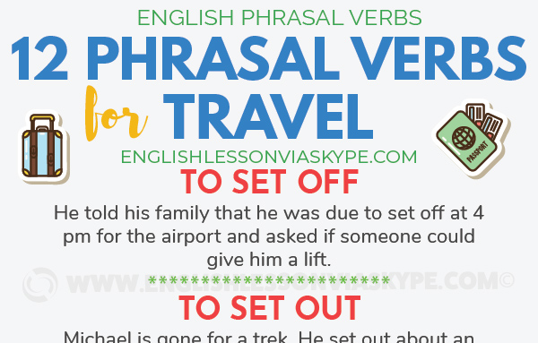 Travel Phrasal Verbs in English. Improve English Speaking Skills. Intermediate level English. #learnenglish #phrasalverbs #ingles #englishlessons #aprenderingles