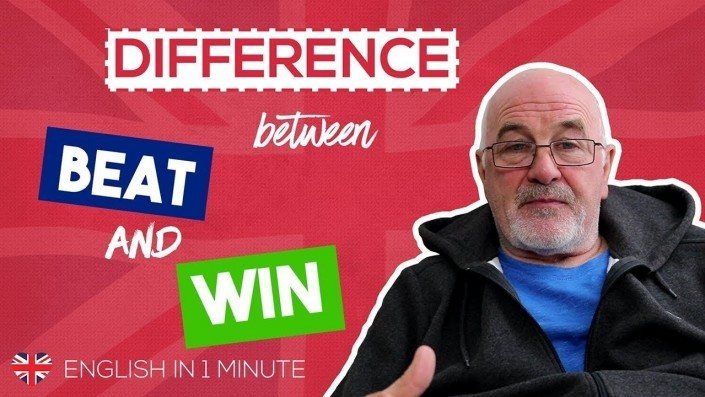 Difference between BEAT and WIN - Improve your English skills