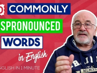 Commonly Mispronounced Words in English