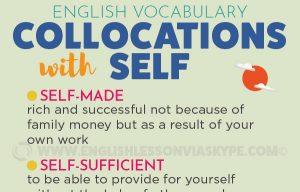 English collocations with SELF. Self-sufficient, self-addressed, self help. www.englishlessonviaskype.com #learnenglish #englishteacher #englishlessons #vocabulary #englishteacher #vocabulary #hoctienganh #ingles #ingilizce #английский