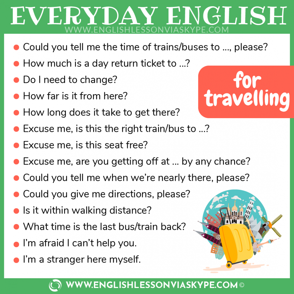 English for travelling. Useful words and phrases. www.englishlessonviaskype.com #learnenglish #englishlessons #tienganh #EnglishTeacher #vocabulary #ingles #อังกฤษ #английский #aprenderingles #english #cursodeingles #учианглийский #vocabulário #dicasdeingles #learningenglish #ingilizce #englishgrammar #englishvocabulary #ielts #idiomas