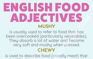 English Food Adjectives
