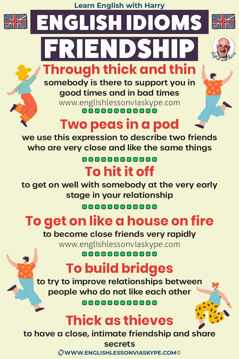 Advanced English expressions about friendship. Study advanced English. Online English lessons on Zoom www.englishlessonviaskype.com #learnenglish