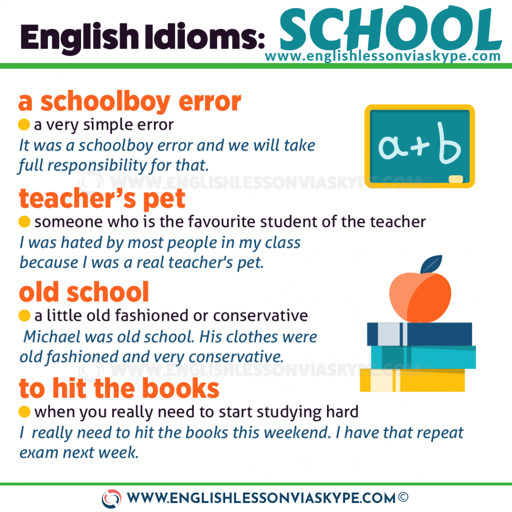 English School Vocabulary. 8 Idioms about School. Eager beaver meaning. Teacher's pet. www.englishlessonviaskype.com #learnenglish #englishlessons #английский #angielski #nauka #ingles #Idiomas #idioms #English #englishteacher #ielts #toefl #vocabulary #ingilizce #inglese