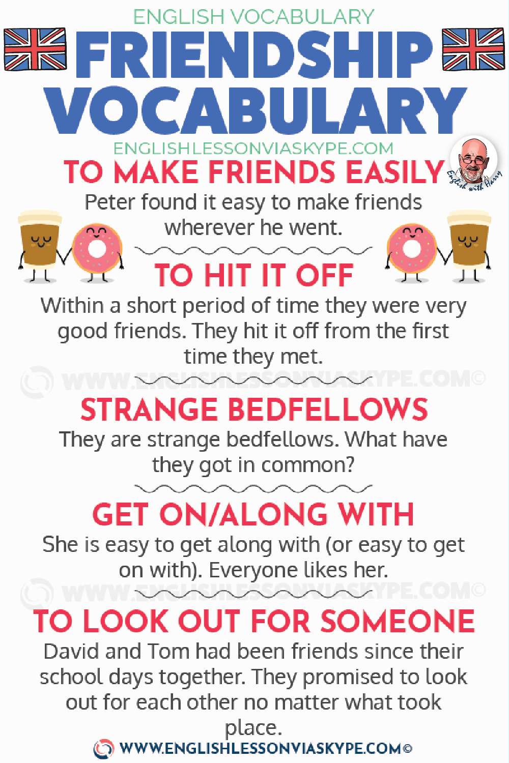English Expressions about Friendship. Improve English skills. #learnenglish #englishlessons #englishteacher #englishvocabulary #ingles #aprenderingles